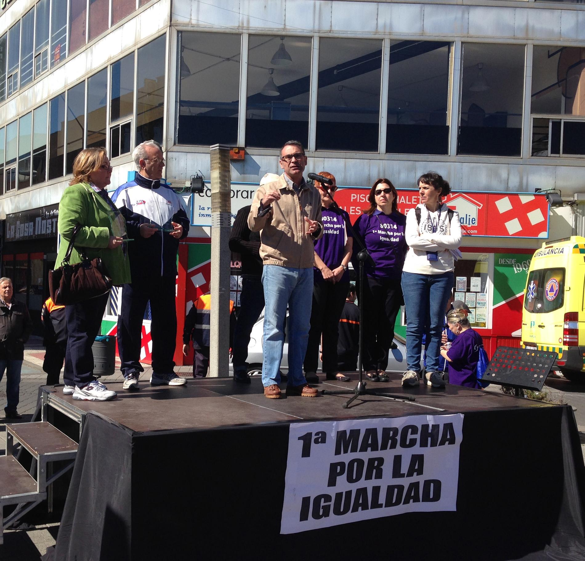 Manifiesto del alcalde tras la Marcha por la Igualdad de Parla