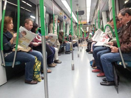 Pasajeros MetroSur