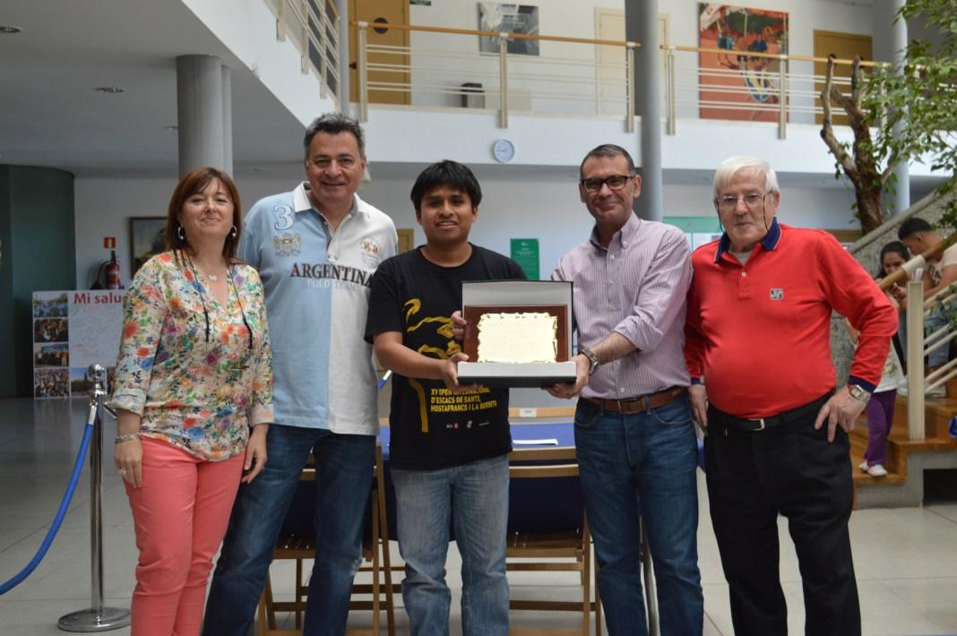 Entrega premio Torneo de Ajedrez Parla