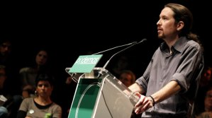 Pablo Iglesias, PODEMOS, en una de sus intervenciones