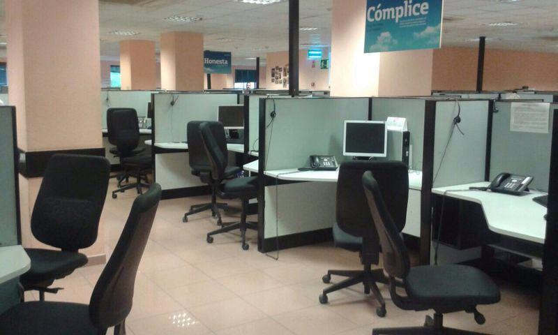 Sitios vacíos en Getafe por la segunda huelga de trabajadores por el ERE de ATENTO