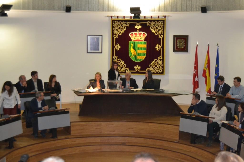 María José L. Bandera en el momento de la votación del nuevo alcalde