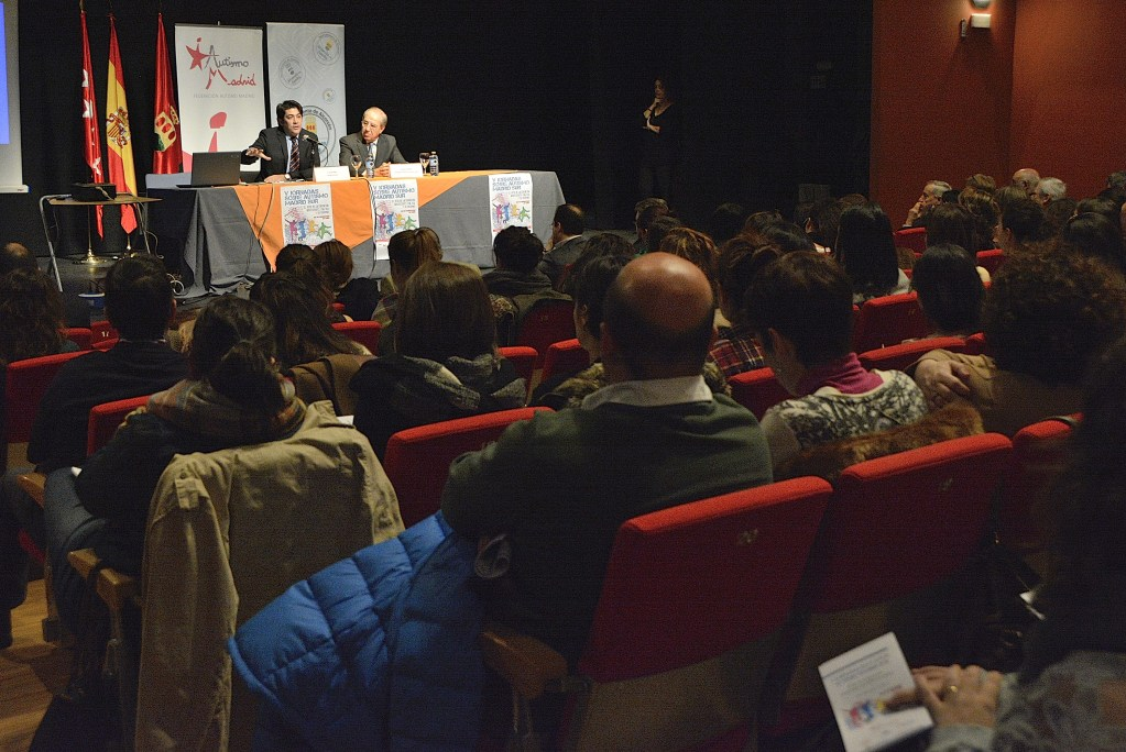 Esta mañana, durante la inauguración de las V Jornadas sobre Autismo Madrid Sur
