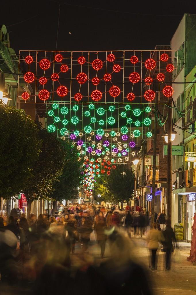 Iluminación navideña en la calle Madrid