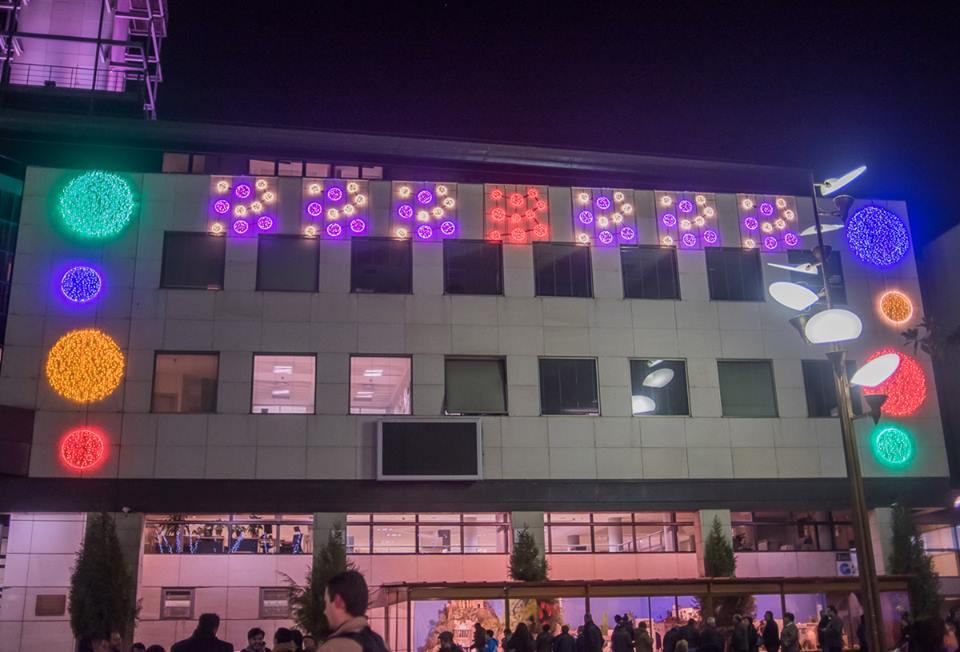 Iluminación del edificio del Ayuntamiento