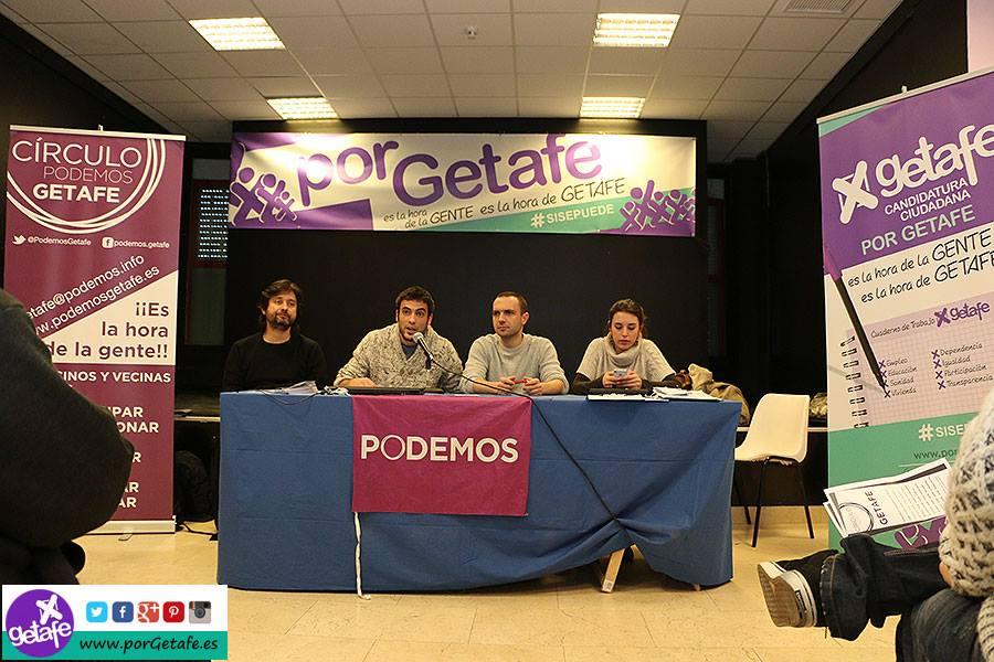 Asamblea de presentación de la candidatura 'Por Getafe, apoyada por Podemos Getafe