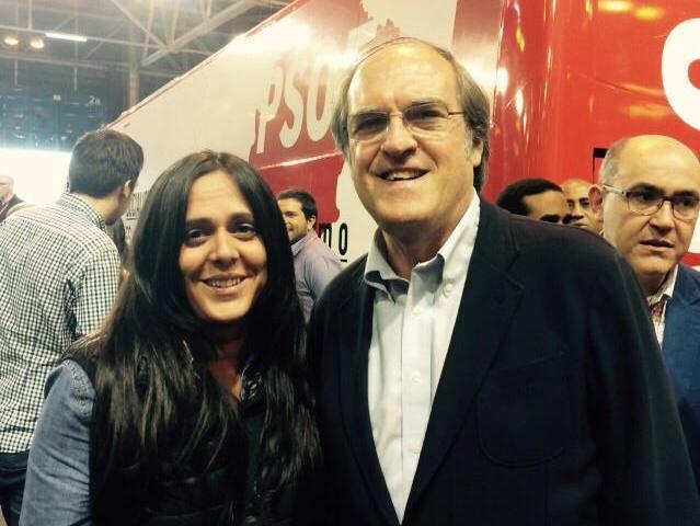 Cristina Vélez (PSOE Parla) y Ángel Gabilondo (PSM). Imagen de @CrisVelezParla