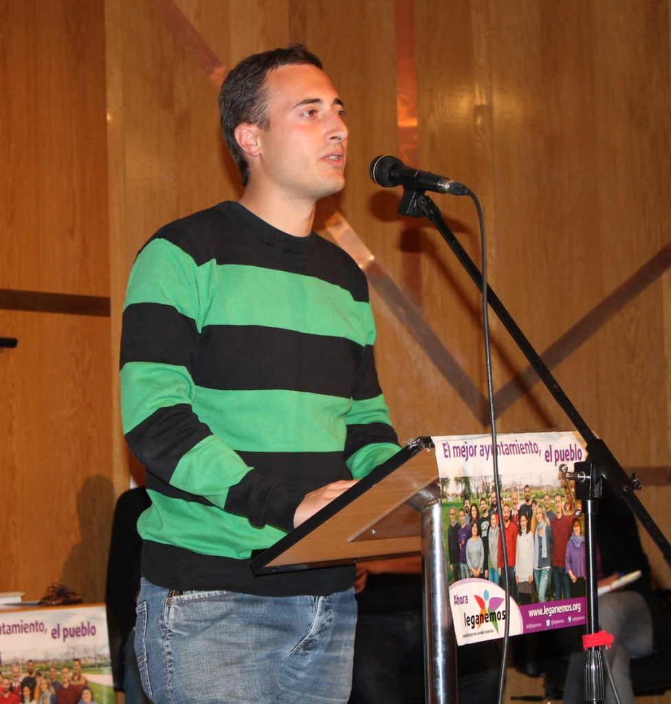 Adrián Sánchez, número 3 de la candidatura de Leganemos