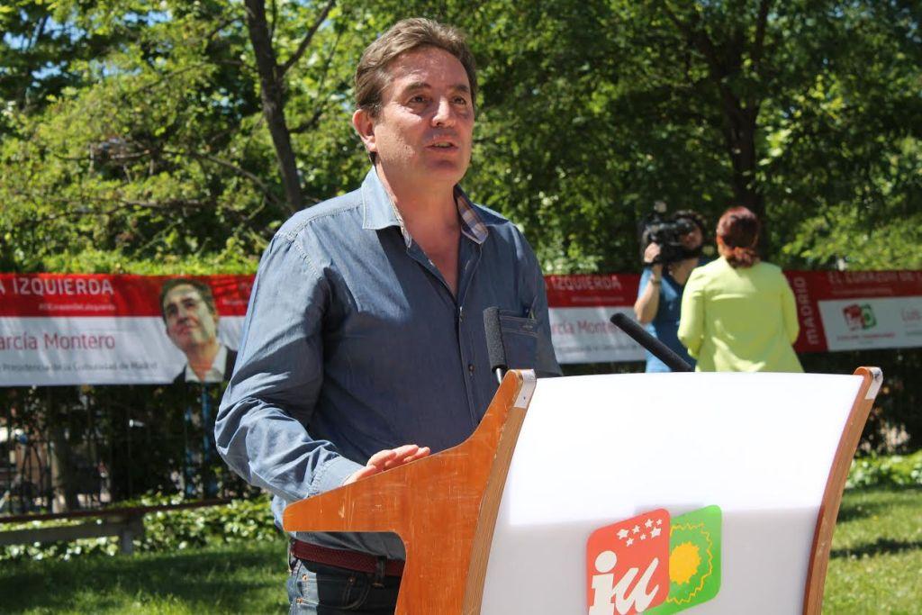Luis García Montero en el acto central de campaña de IU Leganés