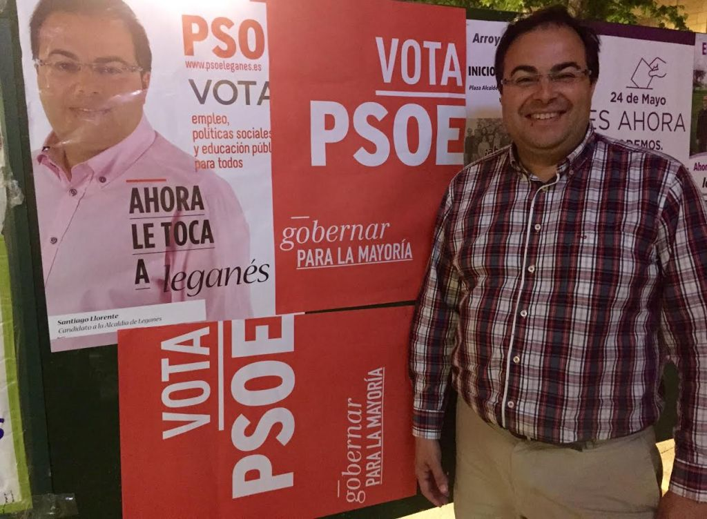 Santiago Llorente, candidato de PSOE
