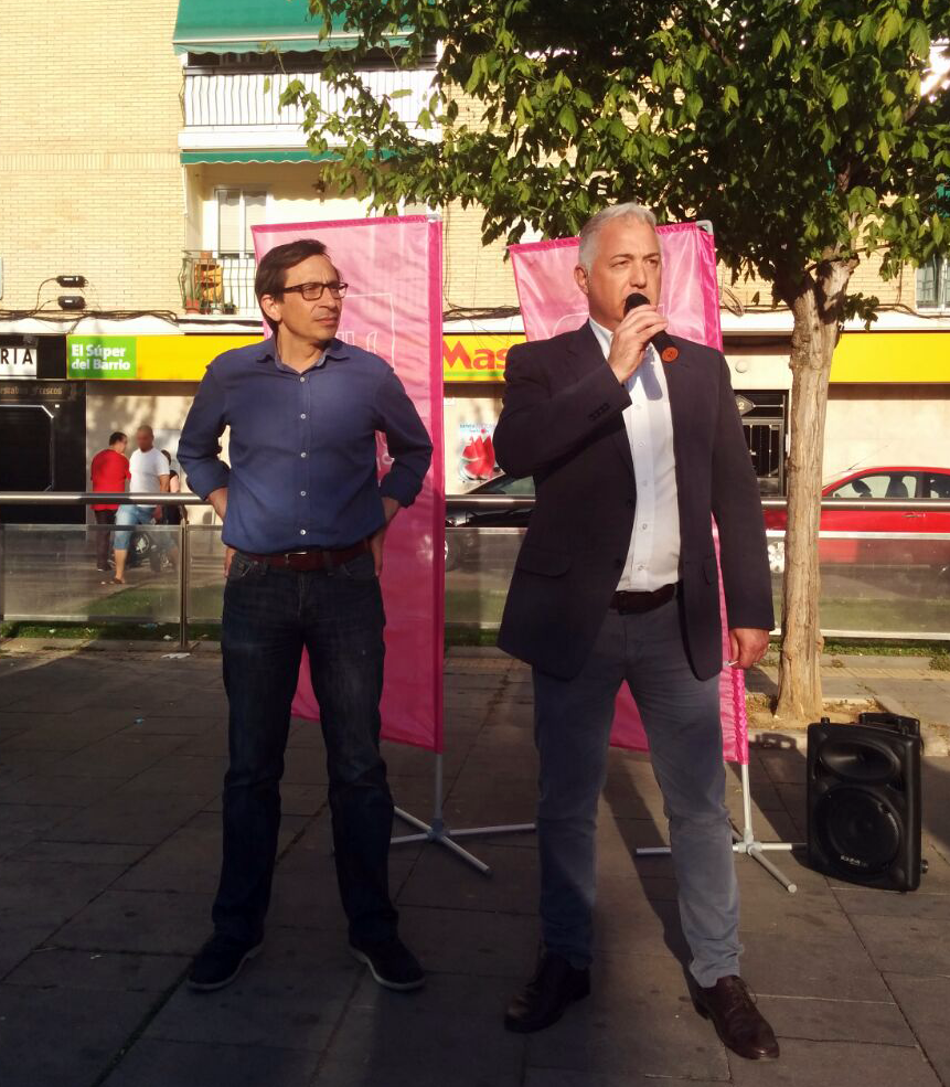Ramón Marcos y Carlos Alt Bustelo en el acto central de campaña de UPyD en Parla