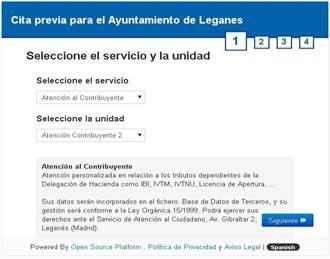 Servicio de cita previa online en el ayuntamiento de legan s for Ayuntamiento de madrid oficina de atencion integral al contribuyente