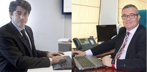 David Pérez, alcalde de Alcorcón y Guillermo Hita alcalde de Arganda del Rey