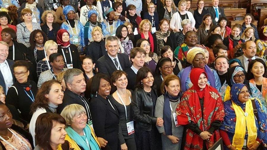 David Lucas fue el único hombre que intervino como ponente en el encuentro Una agenda sensible en materia de Género para Habitat III.