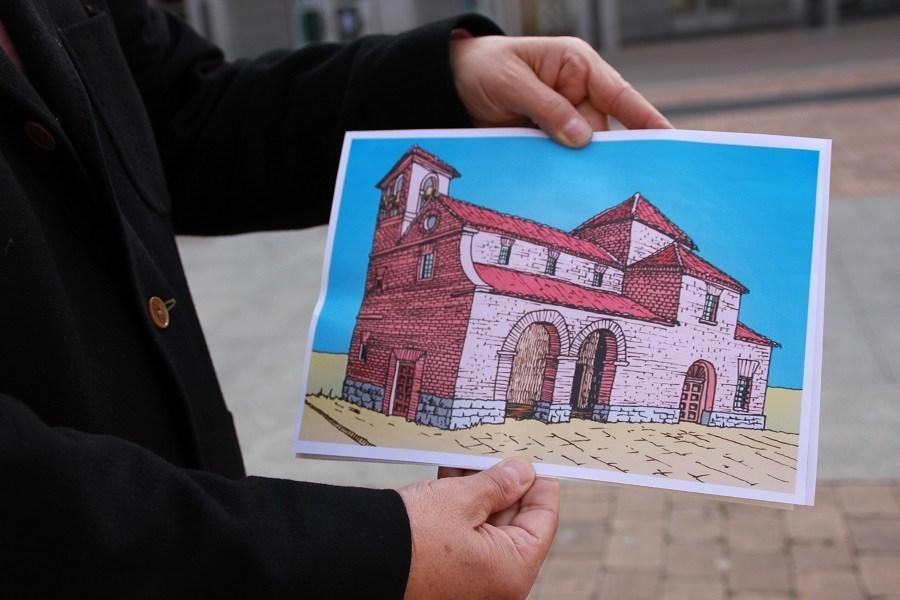 Así era la Iglesia San Pedro Apostol. Foto_Ruth Holgado.