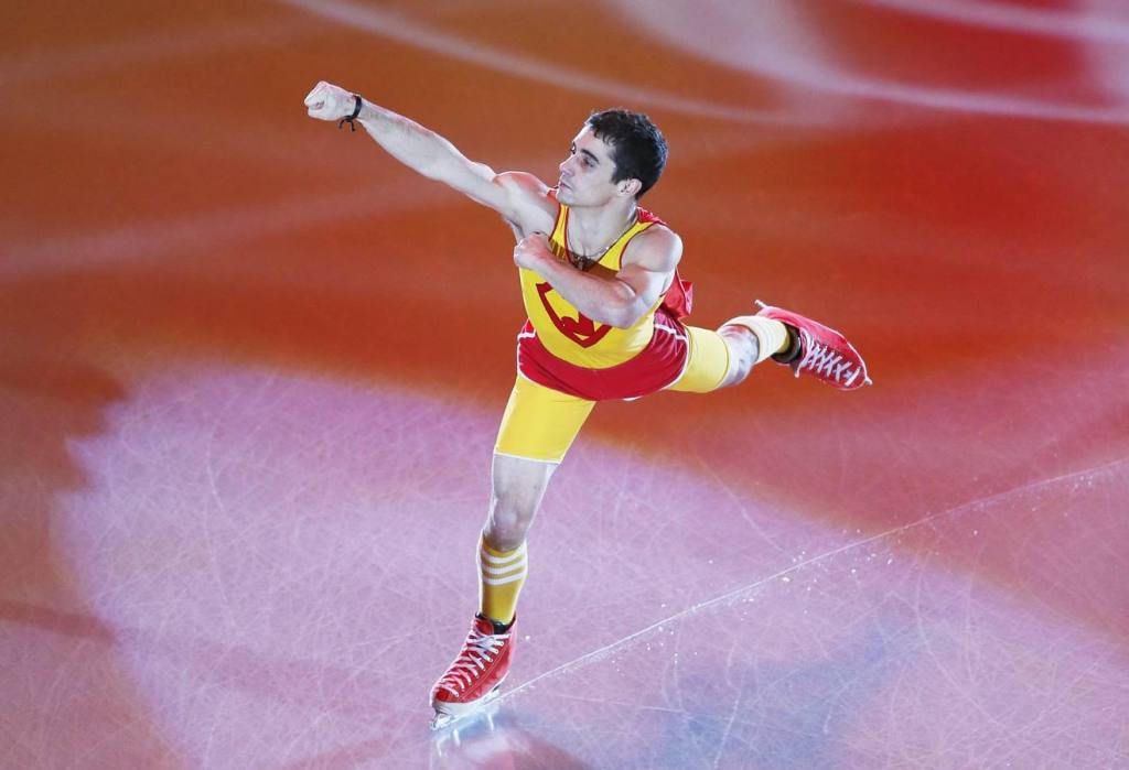 Javier Fernandez, durante una de sus competiciones