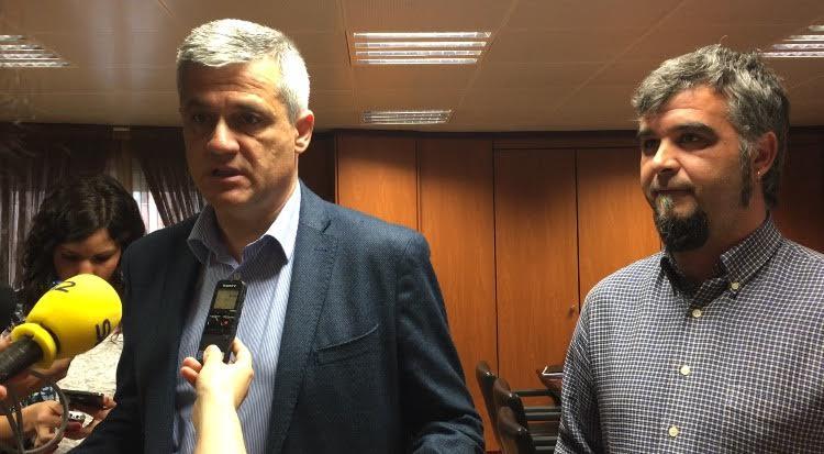 David Lucas junto a Gabriel Ortega de Ganar Móstoles.