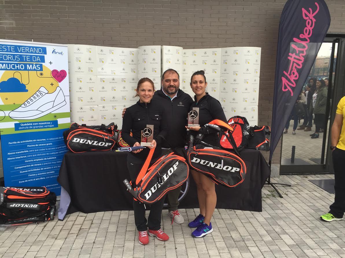 Campeonas en categoría femenina fueron Carmen Franco/Luz Mesones