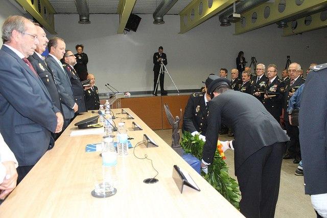 La Mesa de Autoridades, durante el acto del Día de Policía Nacional.