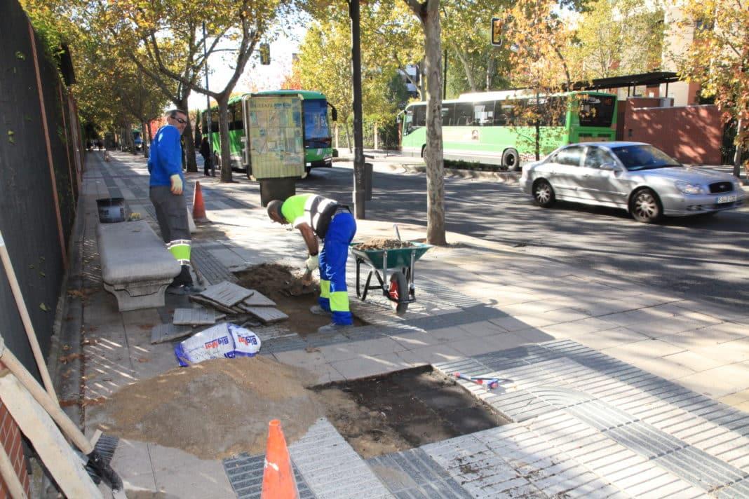 Getafe obras de asfaltado desde la glorieta victoria for Calle jardines getafe