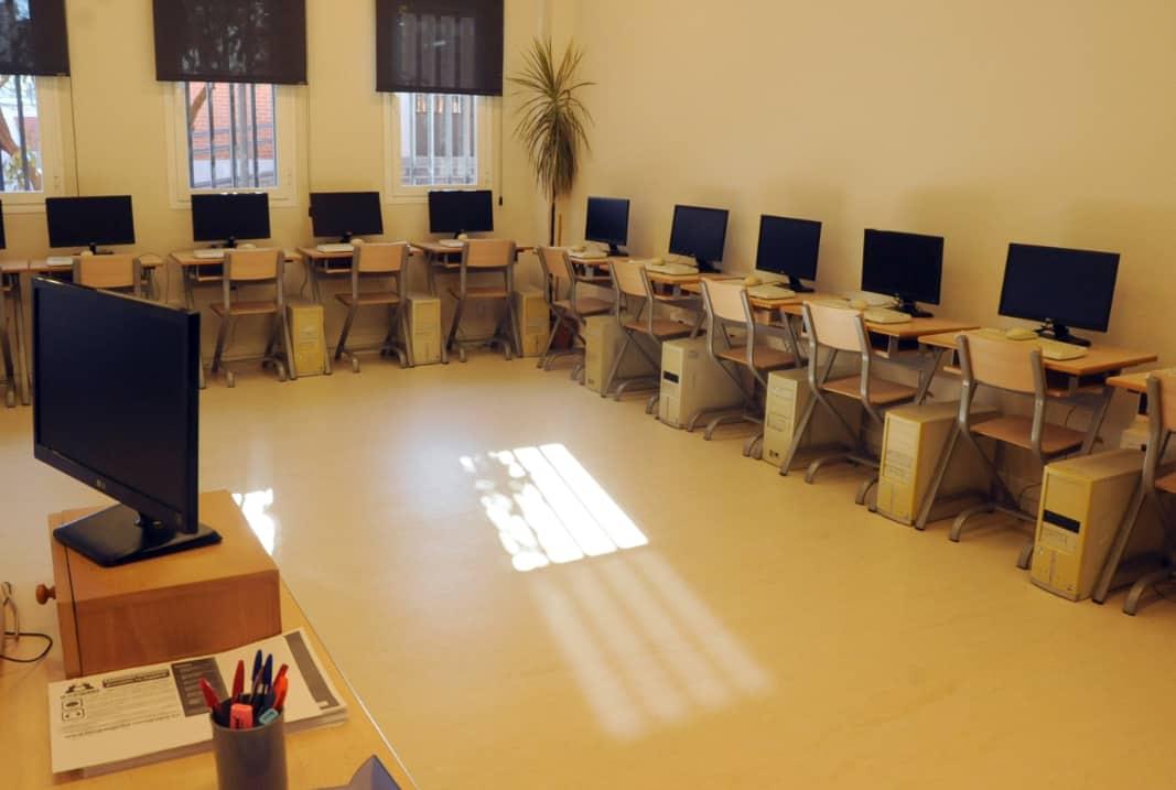 Salas de formación para los 41 cursos que van a realizarse en la nueva sede