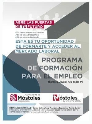 Móstoles Programa Formación para el empleo