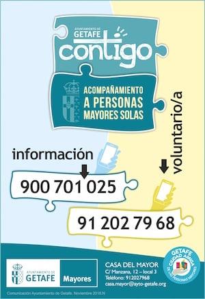 CONTIGO. Programa de acompañamiento de personas solas en Getafe
