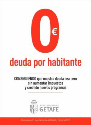 Ayuntamiento de Getafe Deuda 0€ por habitante