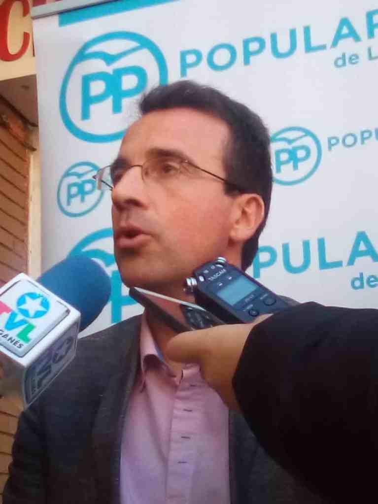 El candidato del PP, Miguel Ángel Recuenco.